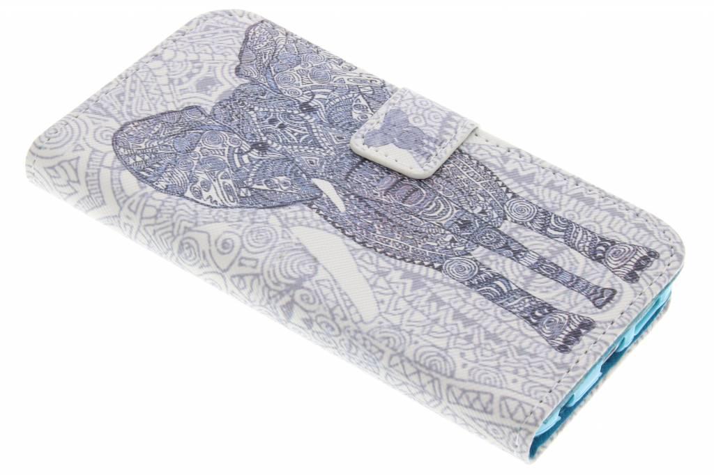 Olifant design TPU booktype hoes voor de Samsung Galaxy S6 Edge