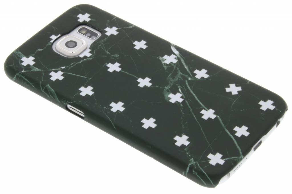 Zwart marmer plus design hardcase hoesje voor de Samsung Galaxy S6