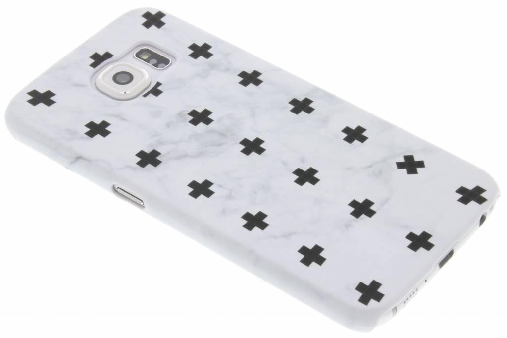 Wit marmer plus design hardcase hoesje voor de Samsung Galaxy S6