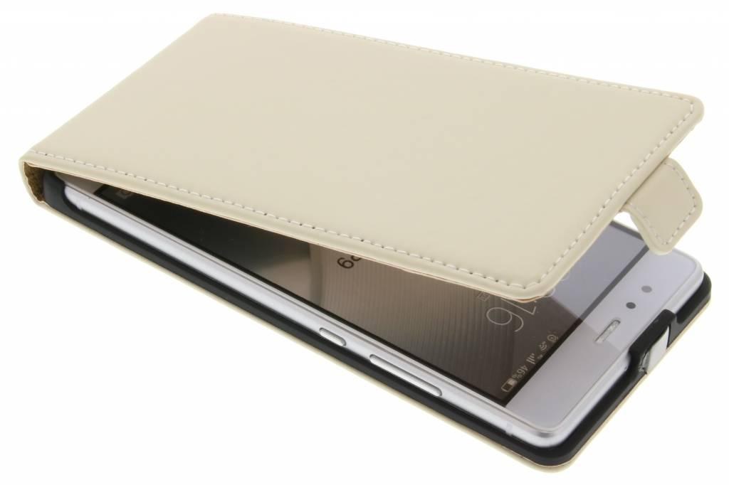 Selencia Luxe Flipcase voor de Huawei P9 - Gebroken wit