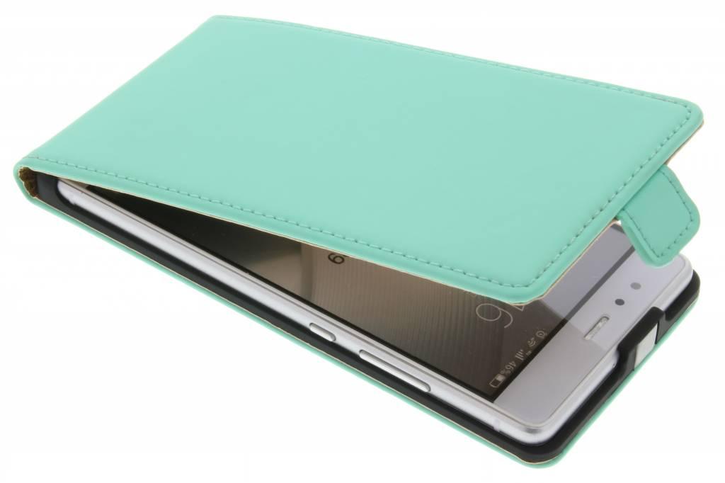 Selencia Luxe Flipcase voor de Huawei P9 - Mintgroen