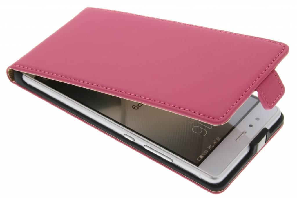 Selencia Luxe Flipcase voor de Huawei P9 - Fuchsia