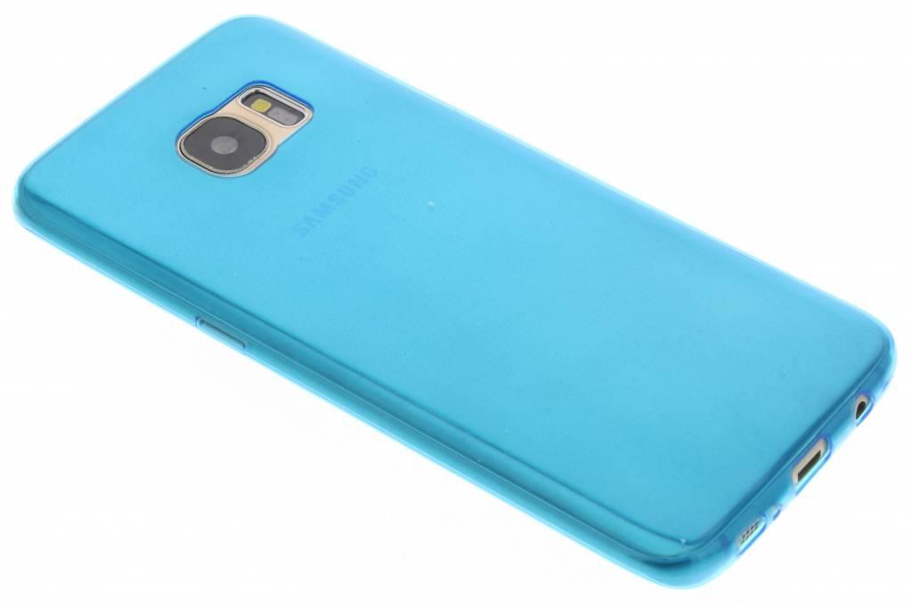 Blauw ultra thin transparant TPU hoesje voor de Samsung Galaxy S7 Edge