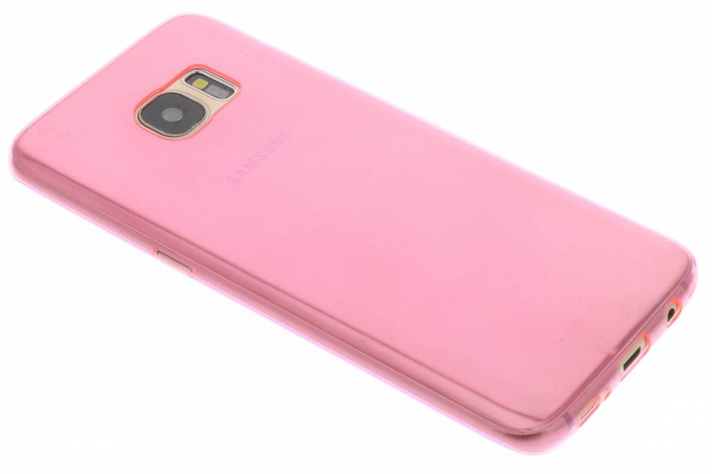Roze ultra thin transparant TPU hoesje voor de Samsung Galaxy S7 Edge