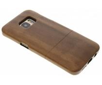 Donkerbruin echt houten hardcase hoesje Galaxy S7 Edge