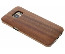 Bruin echt houten hardcase hoesje Galaxy S7 Edge