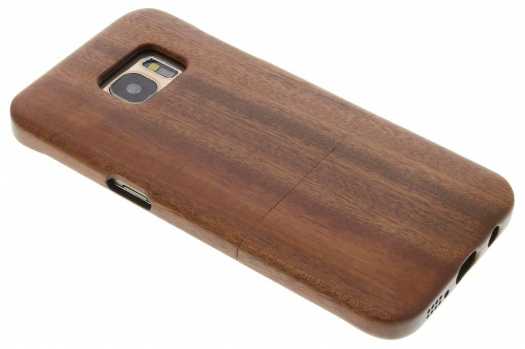Bruine echt houten hardcase hoesje voor de Samsung Galaxy S7 Edge
