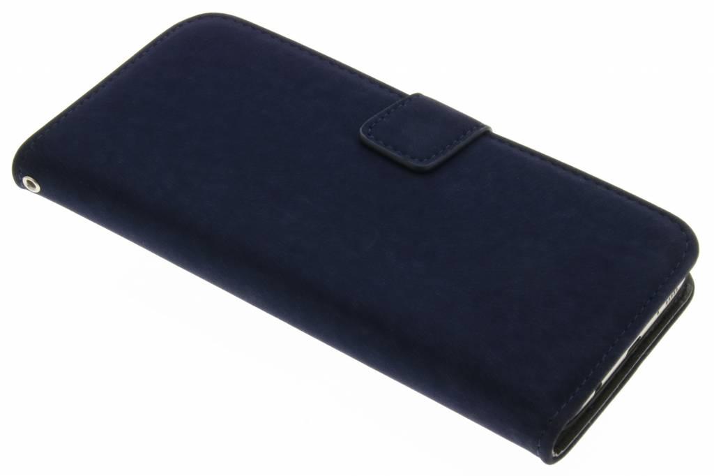 Blauwe premium suède booktype hoes voor de Samsung Galaxy S7 Edge