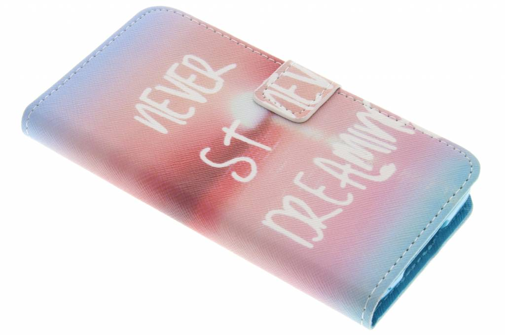 Never stop dreaming design TPU booktype hoes voor de Samsung Galaxy S5 (Plus) / Neo