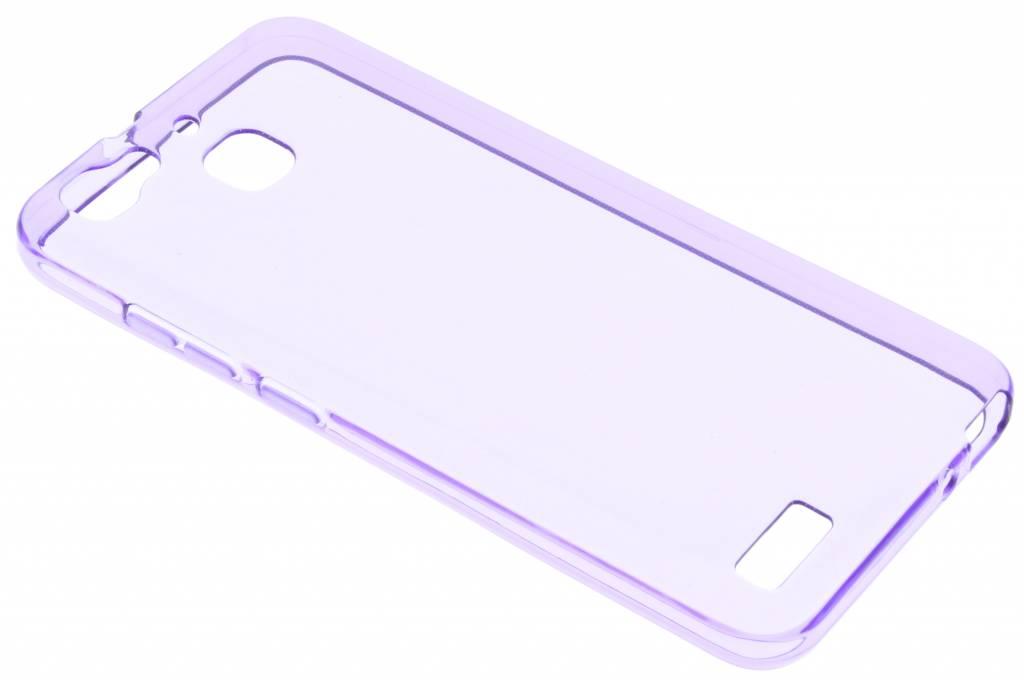 Paarse transparante gel case voor de Huawei GR3 / P8 Lite Smart