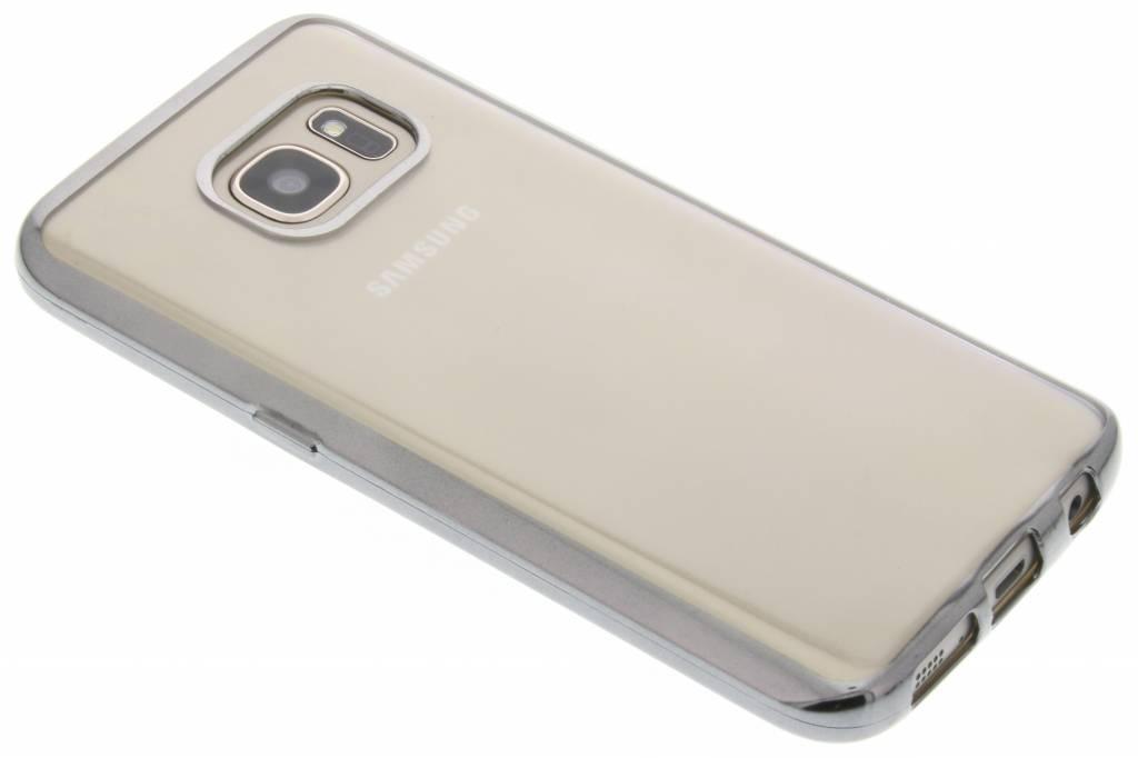 Donkergrijs TPU hoesje met metallic rand voor de Samsung Galaxy S7