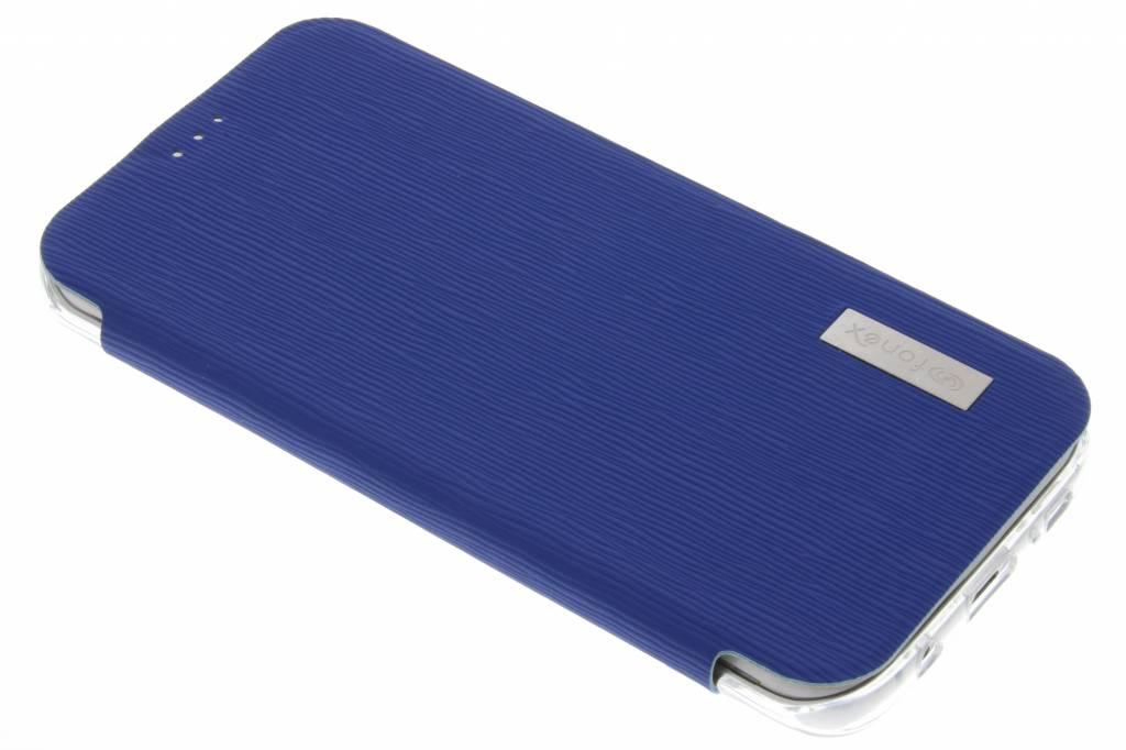 Fonex Crystal Slim Book voor de Samsung Galaxy S7 Edge - Donkerblauw