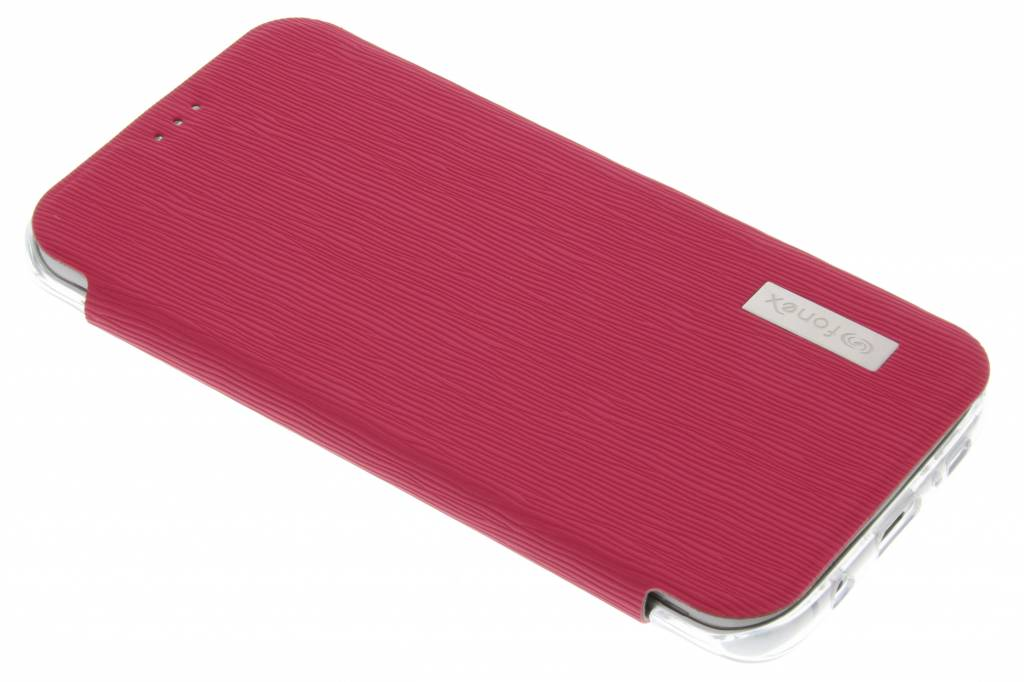 Fonex Crystal Slim Book voor de Samsung Galaxy S7 Edge - Fuchsia