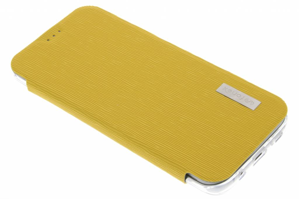 Fonex Crystal Slim Book voor de Samsung Galaxy S7 Edge - Geel