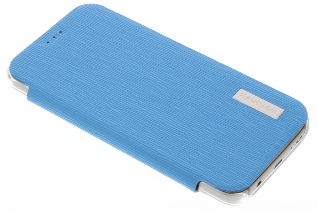 Fonex Crystal Slim Book voor de Samsung Galaxy S7 - Lichtblauw