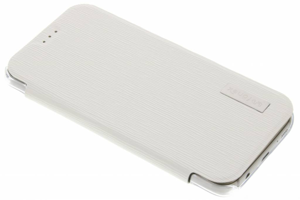 Fonex Crystal Slim Book voor de Samsung Galaxy S7 - Wit
