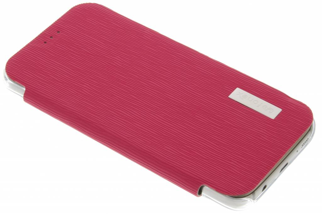 Fonex Crystal Slim Book voor de Samsung Galaxy S7 - Fuchsia