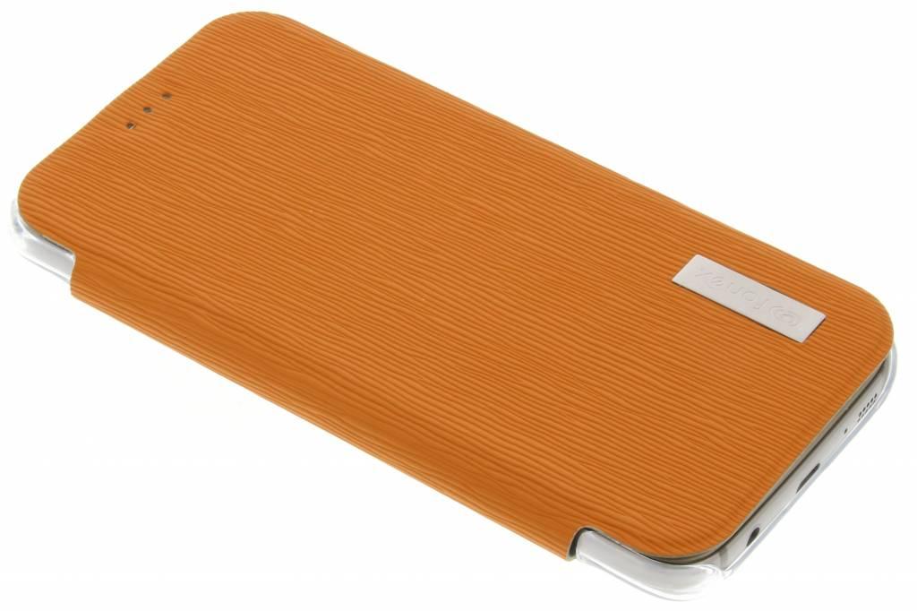 Fonex Crystal Slim Book voor de Samsung Galaxy S7 - Oranje
