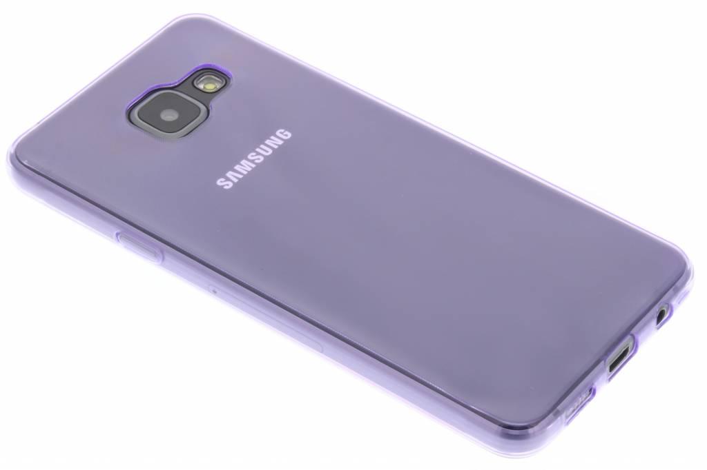 Paars ultra thin transparant TPU hoesje voor de Samsung Galaxy A3 (2016)