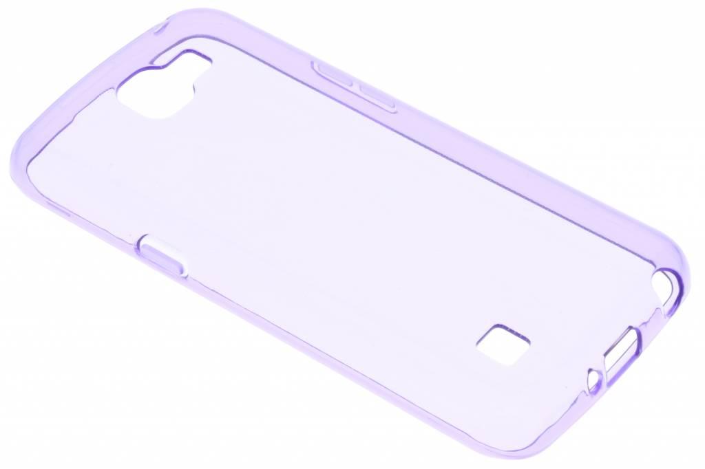 Paarse transparante gel case voor de LG K4