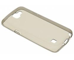 Grijs transparant gel case LG K4