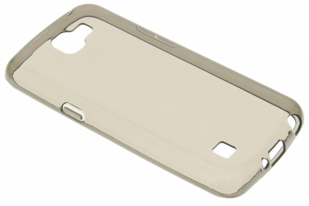 Grijze transparante gel case voor de LG K4