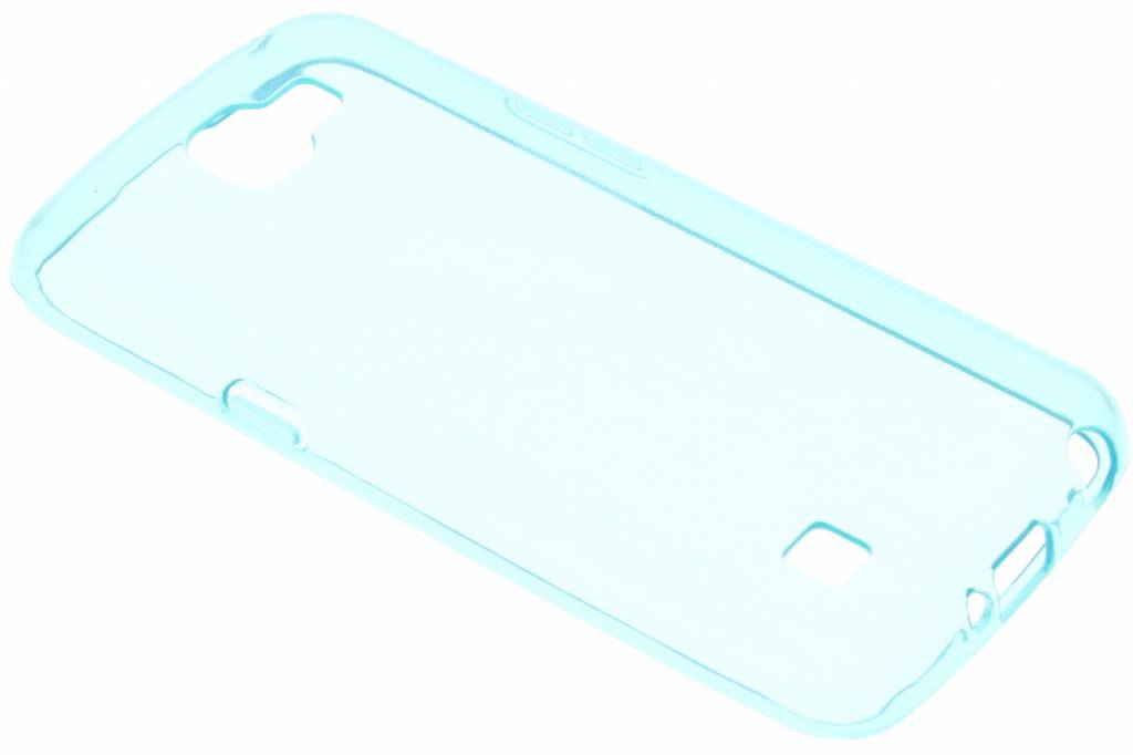 Turquoise transparante gel case voor de LG K4