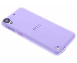Paars transparant gel case HTC Desire 530