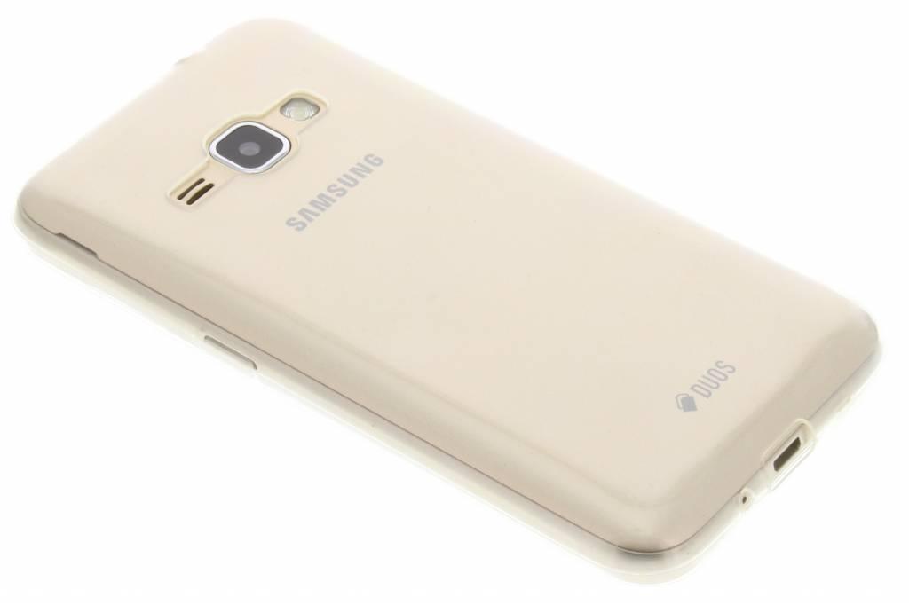 Ultra thin transparant TPU hoesje voor de Samsung Galaxy J1 (2016)