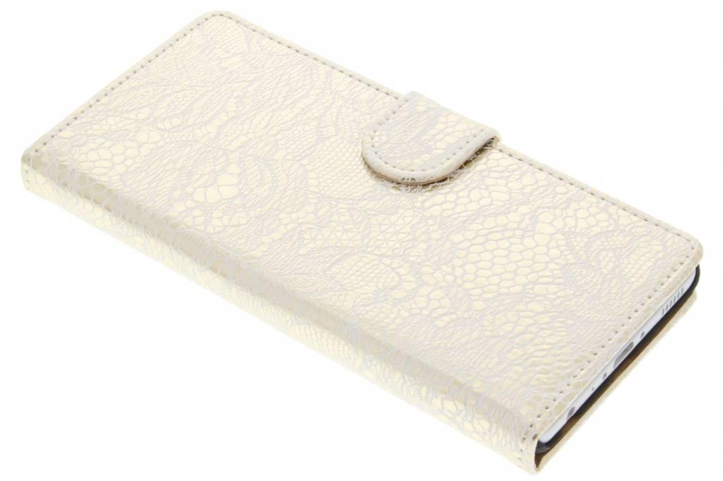 Witte glamour design booktype hoes voor de Huawei P9