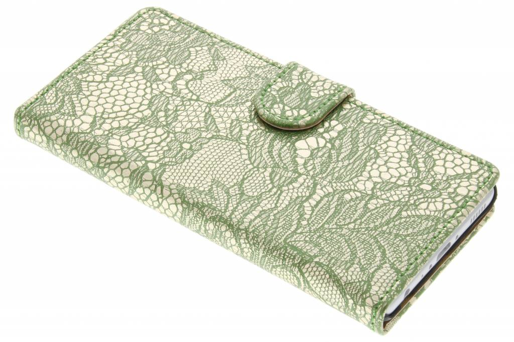 Groene glamour design booktype hoes voor de Huawei P9