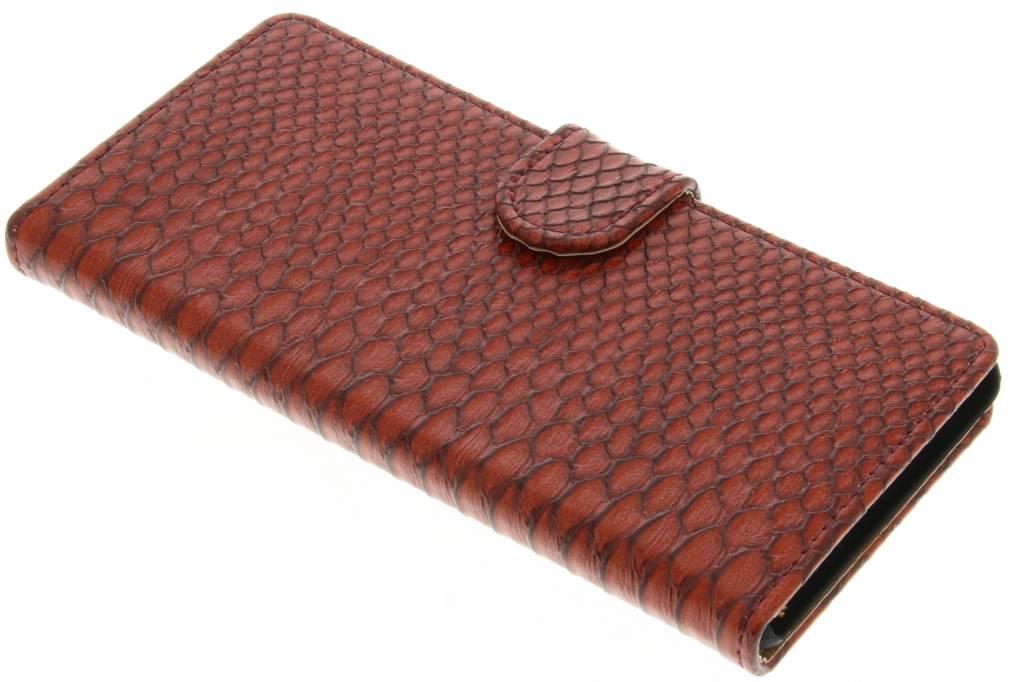Rode slangen booktype hoes voor de Huawei P9 Lite