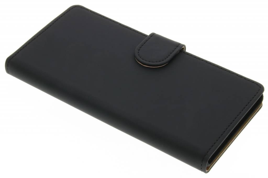 Zwarte effen booktype hoes voor de Huawei P9 Lite