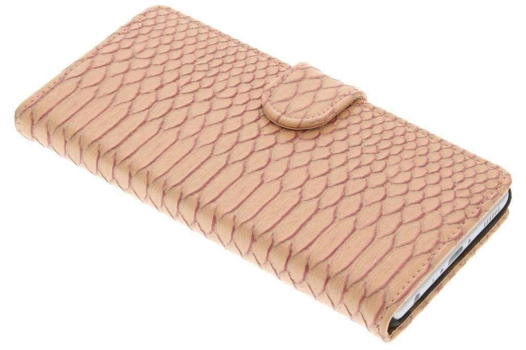 Roze slangen booktype hoes voor de Huawei P9