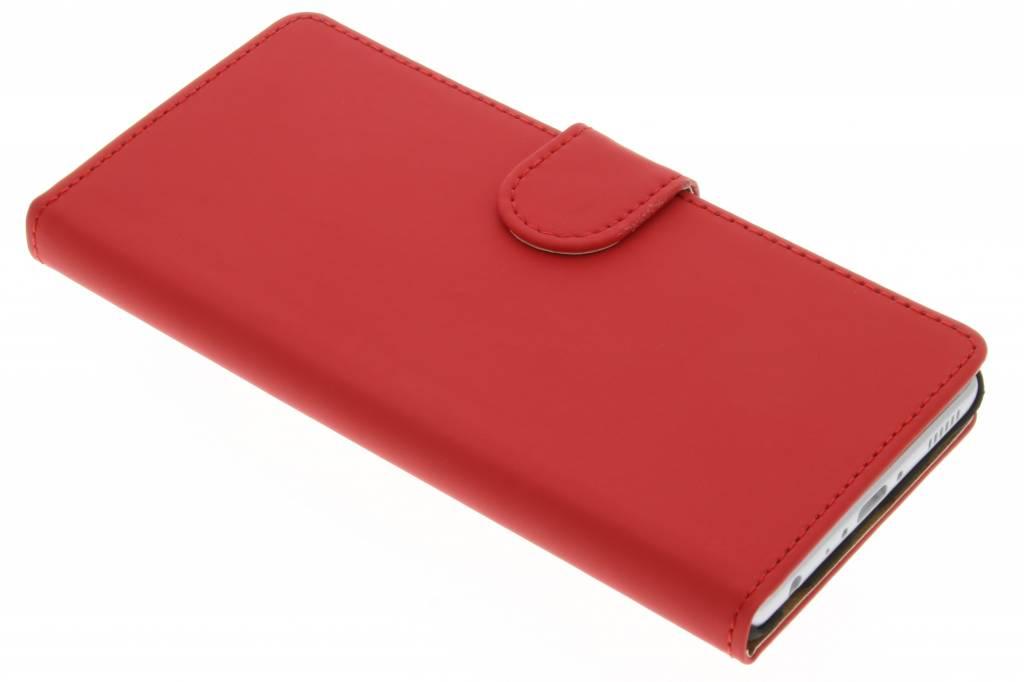 Rode effen booktype hoes voor de Huawei P9