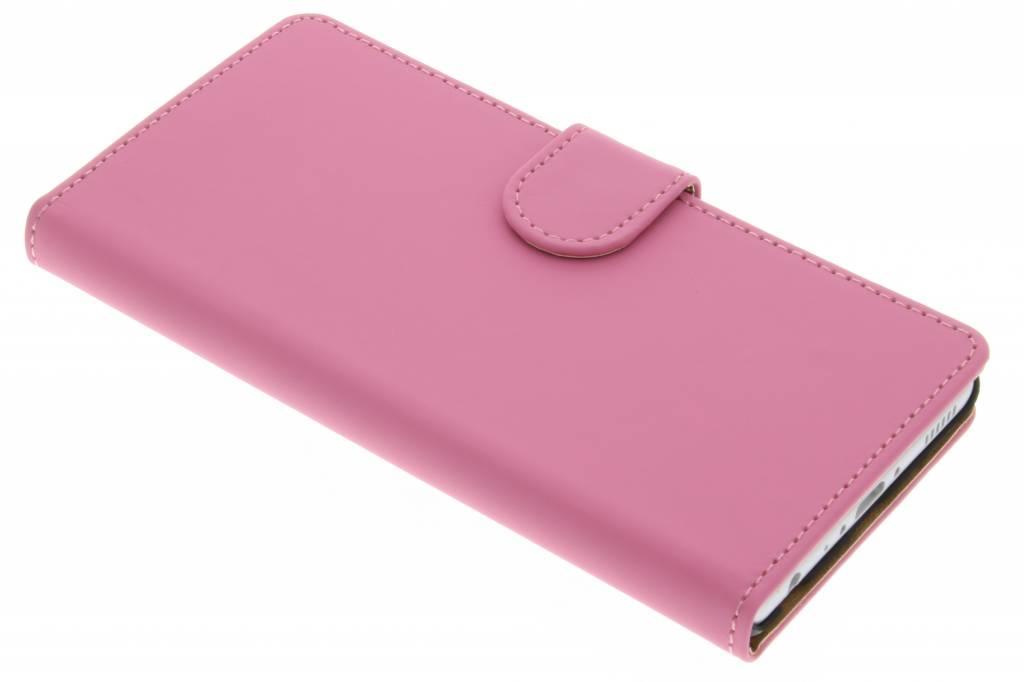Roze effen booktype hoes voor de Huawei P9