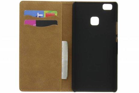 Conception Noir Brillant Booktype Cas Pour Huawei Lite P9 GTVfg