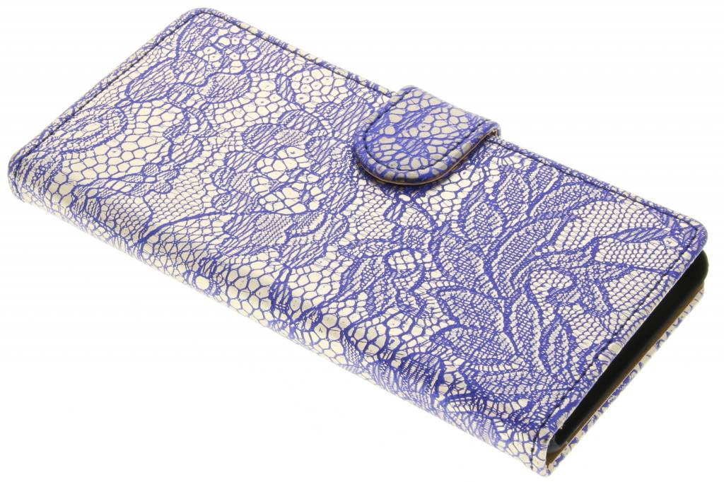 Blauwe glamour design booktype hoes voor de Huawei P9 Lite