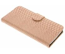 Roze slangen booktype hoes LG G5 (SE)