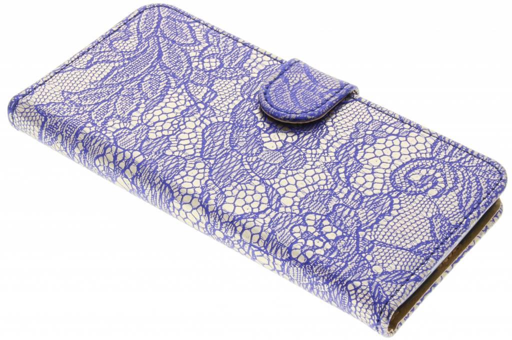 Blauwe glamour design booktype hoes voor de LG G5 (SE)