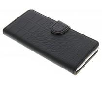 Zwart krokodil booktype hoes HTC Desire 530