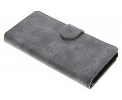 Grijs hagedis design booktype hoes LG G5 (SE)