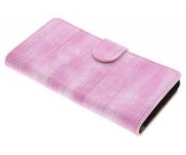 Roze hagedis design booktype hoes LG G5 (SE)