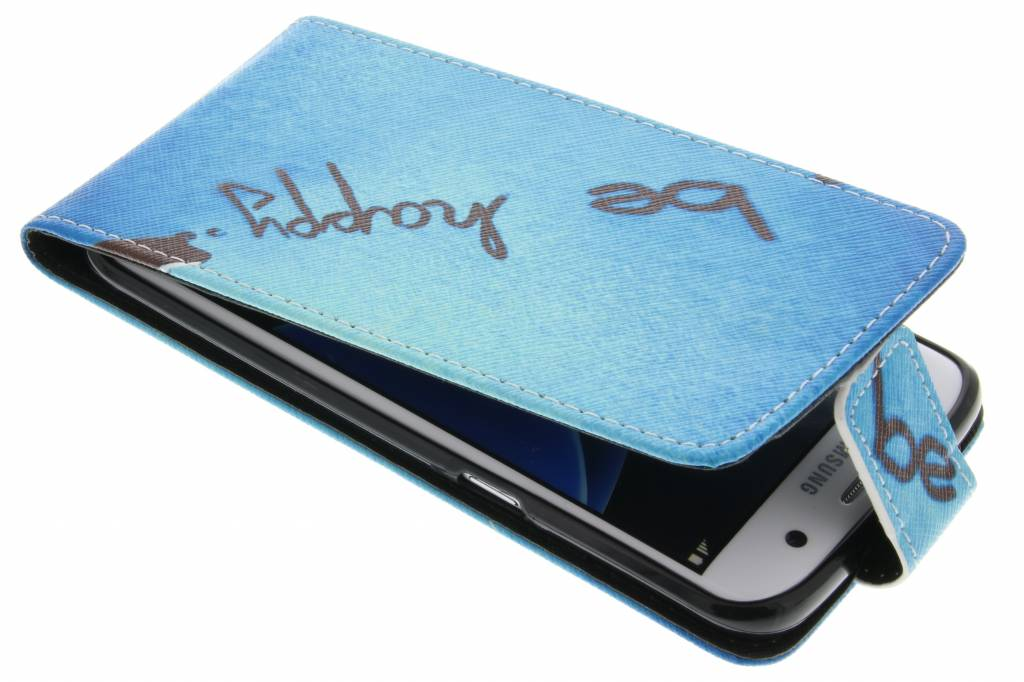 Be happy design TPU flipcase voor de Samsung Galaxy S7 Edge