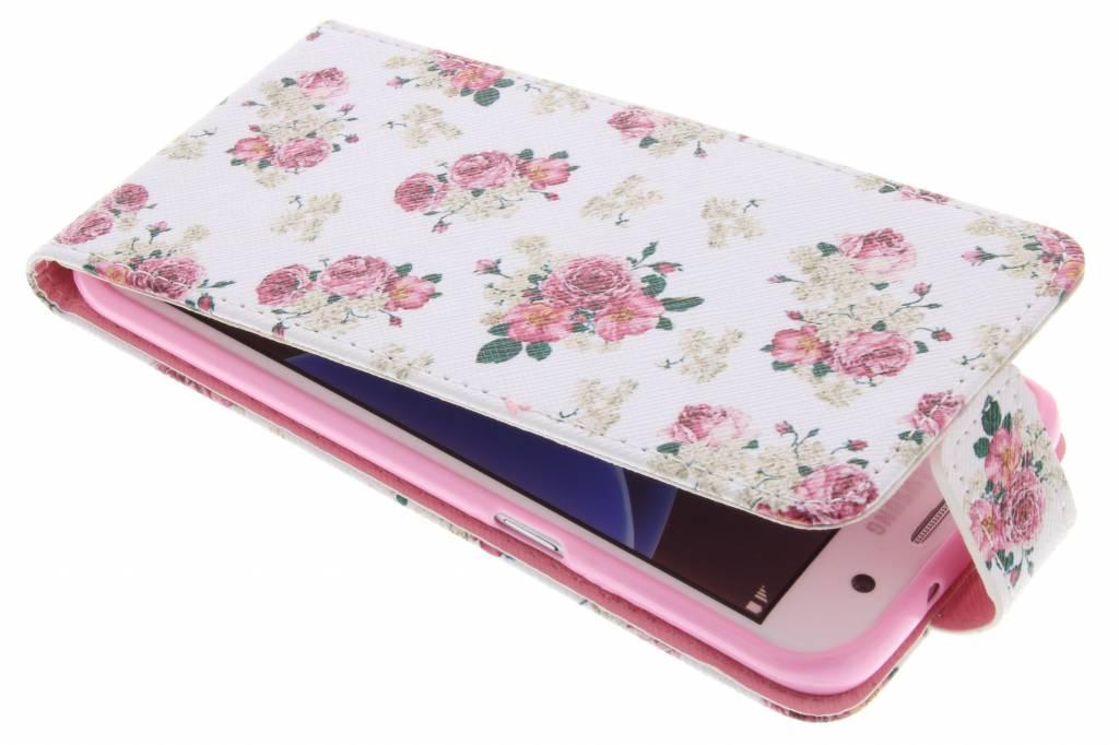 Roosjes design TPU flipcase voor de Samsung Galaxy S7 Edge