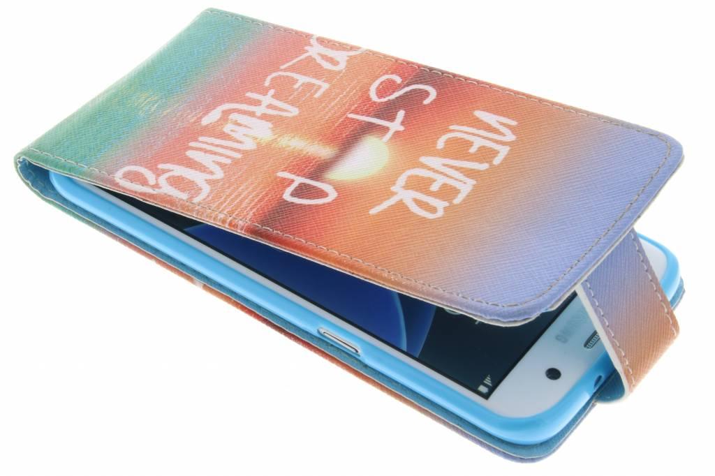 Never stop dreaming design TPU flipcase voor de Samsung Galaxy S7 Edge