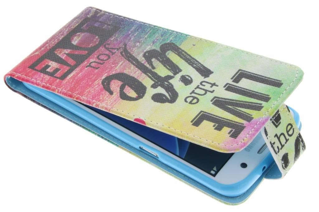Live te life design TPU flipcase voor de Samsung Galaxy S7 Edge