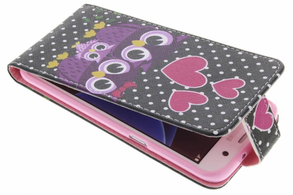 Uiltjes design TPU flipcase voor de Samsung Galaxy S7 Edge