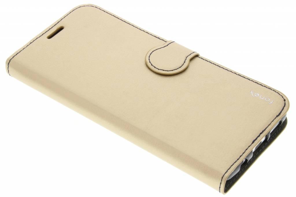 Fonex Identity Bookcase voor de Samsung Galaxy S7 Edge - Goud