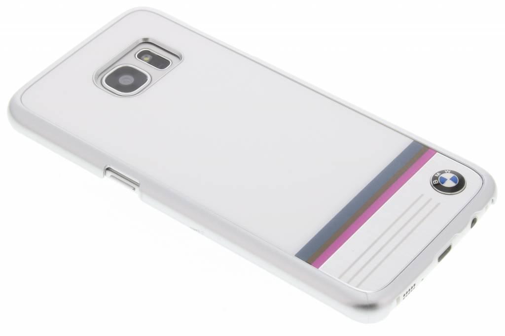 BMW Hard Case Aluminum Plate voor de Samsung Galaxy S7 Edge - Wit